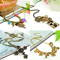 Zinc Alloy Iron Chain Necklace