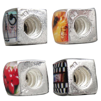 Plastic Zinc Alloy European Beads