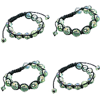 Glass Beads Shamballa Bracelets